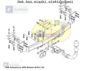 hak-holowniczy-alfa-romeo-alfa-145-al33a
